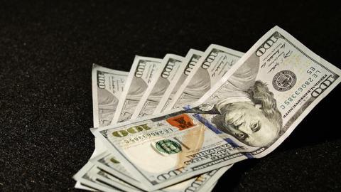 2022 United States one hundred dollar bill, 4K Footage