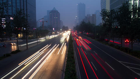 Beijing 3rd rind road at night 4k Stock Video Footage