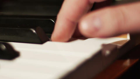 2041 Piano Playing Close Up of Hands, HD Footage
