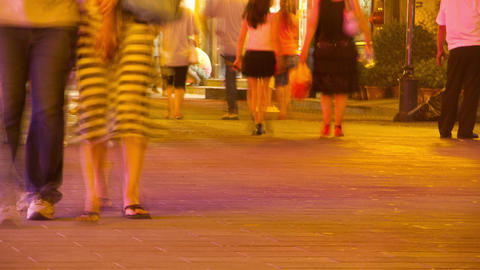 Crowded people at night HD Stock Video Footage