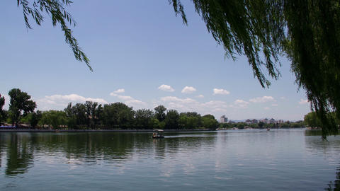 Houhai park at daytime HD Footage