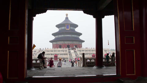 Temple Of Heaven At Daytime HD stock footage