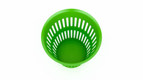 Green wastebasket Animation