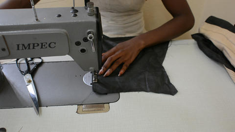 African seamstress Stock Video Footage