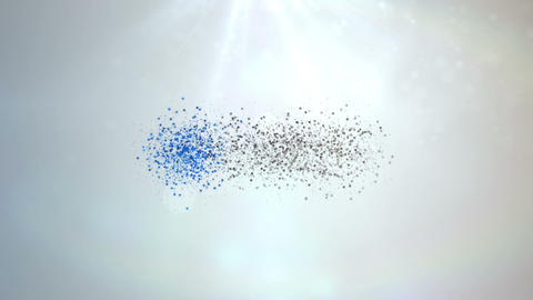 Clean Bright Particles Animation Light Logo Build After Effects Template