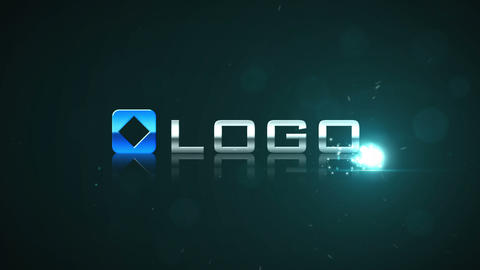 Dark Blue Glow Energy Particle Blast Stylish Logo  After Effects Template