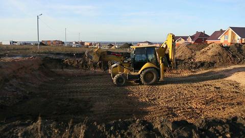 Excavator works Footage