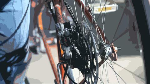 adjusting a bike Footage
