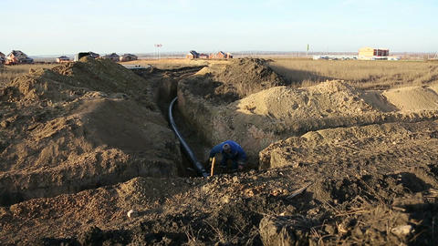Pipeline trench Footage