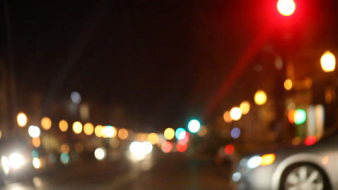 busy city street at night Stock Video Footage
