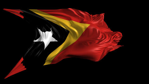 Flag of East Timor Animation