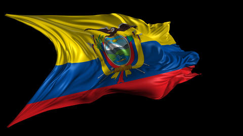 Flag Of Ecuador stock footage