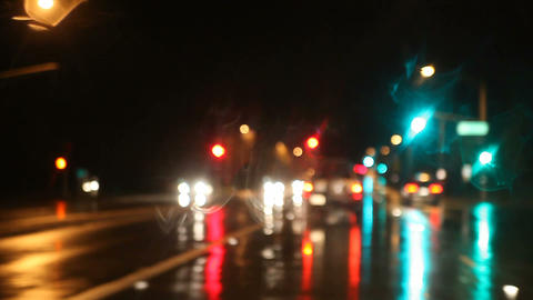 rainy night drive Stock Video Footage