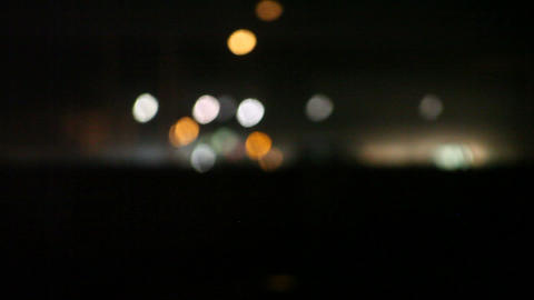 Headlights At Night stock footage