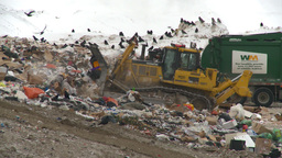 HD2008-12-8-1 landfill caterpiller Stock Video Footage
