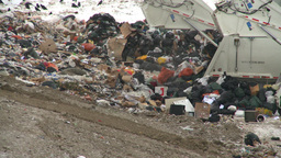 HD2008-12-8-3 landfill garbage truck Stock Video Footage
