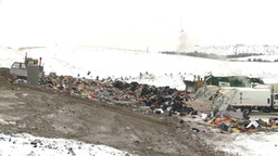 HD2008-12-8-5 landfill garbage truck Footage