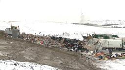 HD2008-12-8-5 landfill garbage truck Footage