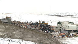 HD2008-12-8-5 landfill garbage truck Stock Video Footage