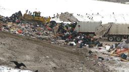 HD2008-12-8-7 landfill caterpiller g truck Stock Video Footage