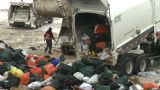 HD2008-12-8-9 Landfill Garbage Truck stock footage