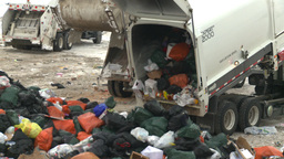 HD2008-12-8-9 landfill garbage truck Stock Video Footage