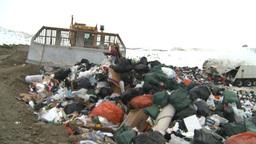 HD2008-12-8-13 landfill caterpiller g truck Stock Video Footage