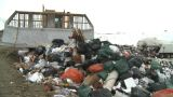 HD2008-12-8-13 Landfill Caterpiller G Truck stock footage