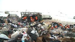 HD2008-12-8-15 landfill caterpiller g truck Stock Video Footage