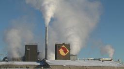 HD2008-12-9-1 Smoke stacks winter Stock Video Footage