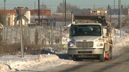HD2008-12-9-7 sanding plow truck Footage