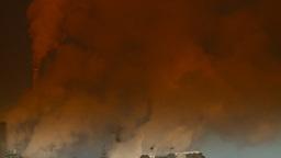 HD2008-12-9-11 Smoke stacks winter CK filter Stock Video Footage