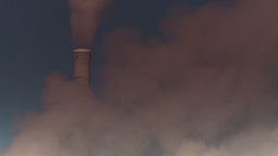 HD2008-12-9-13 Smoke stacks winter CK filter Stock Video Footage