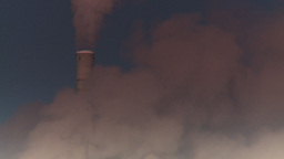 HD2008-12-9-13 Smoke stacks winter CK filter Stock Video Footage