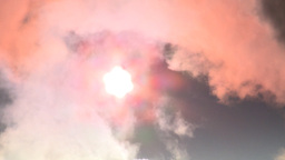 HD2008-12-9-15 Steam cloud obscured sun Stock Video Footage