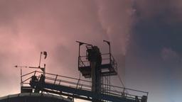 HD2008-12-9-17 Smoke stacks winter CK filter Stock Video Footage