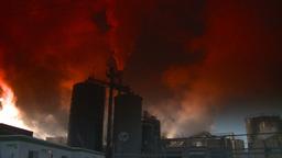 HD2008-12-9-21 Smoke stacks winter CK filter Stock Video Footage