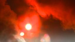 HD2008-12-9-23 Steam cloud obscured sun Stock Video Footage