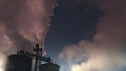 HD2008-12-9-27 Smoke stacks winter CK filter Stock Video Footage