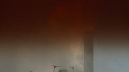 HD2008-12-9-31 Smoke stacks winter CK filter Footage