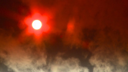 HD2008-12-9-33 Steam cloud obscured sun Stock Video Footage