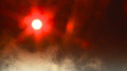 HD2008-12-9-33 Steam cloud obscured sun Stock Video Footage
