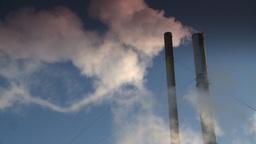 HD2008-12-9-39 Smoke stacks winter CK filter Stock Video Footage