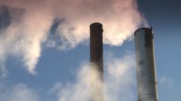 HD2008-12-9-41 Smoke stacks winter CK filter Footage