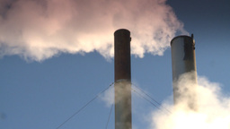 HD2008-12-9-41 Smoke stacks winter CK filter Stock Video Footage