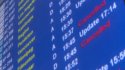 HD2008-12-10-2 Airport arr dep board Stock Video Footage