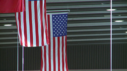 HD2008-12-10-10 US flags and sign Stock Video Footage