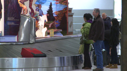 HD2008-12-10-28 TL Airport luggage carousel Stock Video Footage