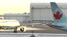 HD2008-12-10-30 Airport airbus taxis Stock Video Footage