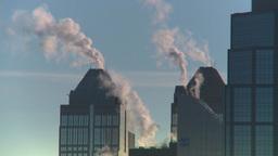 HD2008-12-10-38 TL winter Calgary downtown skyline Stock Video Footage